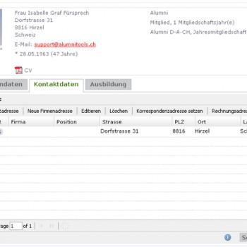 Personendaten verwalten (AlumniTools Portal)