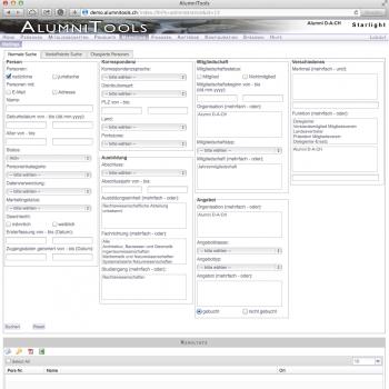 Mailing-Suche (AlumniTools Administration)